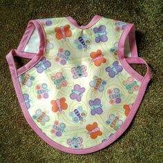 Waterproof Bapron/The Baby Apron - 24 months - 3T with Butterflies by GrandmaSewsBest on Etsy