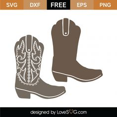 Free Cowboy Boots SVG Cut File Free Svg Cut Files, Svg Files For Cricut, Cnc, Little Cowboy, Cowboy Birthday, Free Stencils, Camo Baby Stuff, Scan And Cut, Cowboy Boots