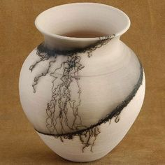 Horse Hair Pottery- Tribal Impressions Pottery Collection -http://www.indianvillagemall.com/pottery/pottery.html