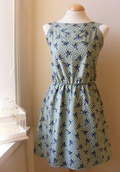 Jennifer Lilly Swallows Bird Cotton Summer Dress