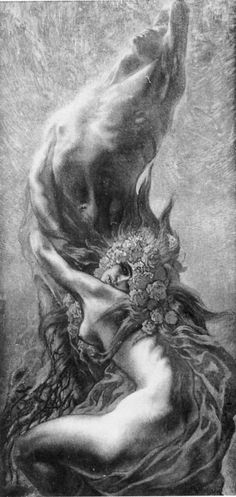 by Jean Delville (Belgian Magritte, Jean Delville, Rose Croix, Legends And Myths, Dark Images, Street Art, Pre Raphaelite, Sketch Inspiration, Art Deco