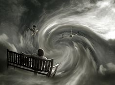 """photomontage """"off to another dimension"""" mattijn july 2006 Surreal Artwork, Surreal Photos, Cool Artwork, Amazing Artwork, Photomontage, Surrealism Photography, Art Photography, Surrealism Art, Photo Manipulation"""