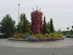 Rond-point de la caisserie à Montreuil-Juigné (49)