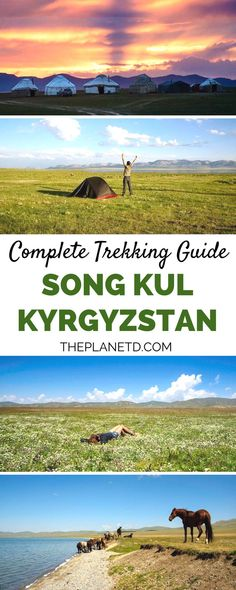 A complete guide to trekking in Song Kul, Kyrgyzstan. Travel through the beautiful mountains among the prayer flags, make a stop in Bishkek for a food break, and experience the true culture of Kyrgyzstan. Adventure travel in Song Kul, Kyrgyzstan. | Blog by the Planet D #Kyrgyzstan