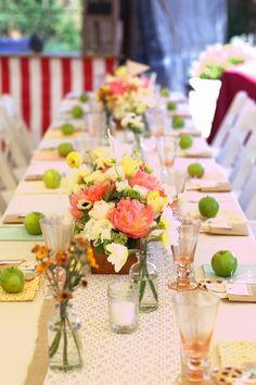 Vintage Carnival Wedding - KHent: also cute table settings - I like the apples (also because you can eat them!)
