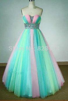 vestidos de xv años de colores de arcoiris - Buscar con Google