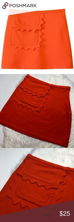 d115ee6246f1 Victoria Beckham For Target Bright Orange Skirt Excellent pre owned  condition! Size small. Scalloped