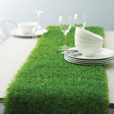 artificial grass table runner by artificial landscapes | notonthehighstreet.com