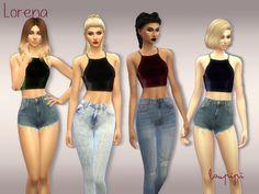 Lorena crop top at Laupipi • Sims 4 Updates