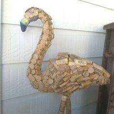 Wine cork flamingo!xxo