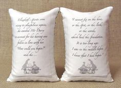Elizabeth and Darcy Bookends - Shelf Pillows