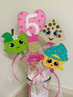 Shopkins Inspired Centerpiece by PinkConfettii on Etsy