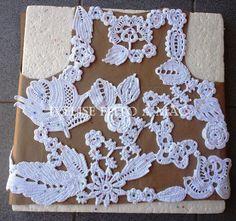Ivelise Feito à Mão: Meus trabalhos: Novo Colete Branco em Crochê Irlandês!