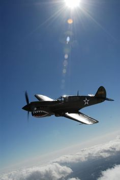 P-40-Flying with the Angels!