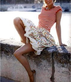 Red & White Stripes #french #nautical #camillestyles
