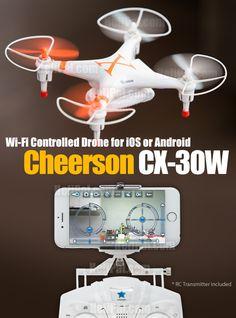 Cheerson CX-30W Wi-Fi FPV Drone (w/ RC transmitter) - Cheerson-Drone-CW30W