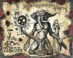CULT of YOG SOTHOTH Cthulhu larp Necronomicon lovecraft monsters occult horror dark art Larp, Ange Demon, Demon Art, Arte Horror, Horror Art, Deviant Art, Fantasy Kunst, Fantasy Art, Necronomicon Lovecraft