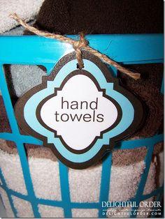 Organize the bathroom with Dollar Tree baskets.