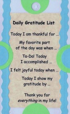 GRATITUDE~ Great prompts for a gratitude journal, or anyone's life journal!