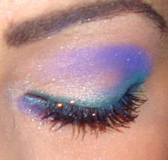Purple White Blue Fairy Glitter overload eyeshadow Makeup Whimsical