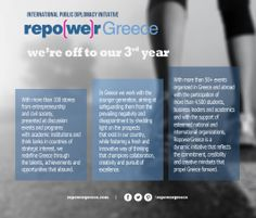 we are off to our 3rd year  www.repowergreece.com