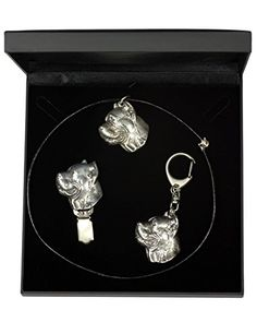 NEW, Cane Corso, dog keyring, necklace and clipring in casket, DELUXE set, limited edition, ArtDog * Check out the image by visiting the link.