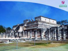 Templo de los guerreros en la ciudad Maya de Chichén Itzá, Yucatán