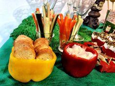 Torradinhas no Pimentão . Pastinha de soja . Cenoura . Pepino .  Health Christmas