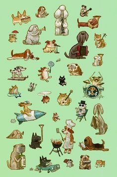 Scott C - dogsprint2-copy http://www.pyramidcar.com/gallery/recent-work/ #dogs #illustration
