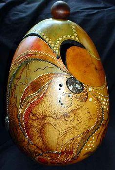Dried Gourd Art by iris-flower
