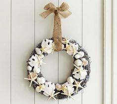 Shell wreath by Pottery Barn