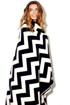 Tory Burch Chevron blanket... Yes, please!