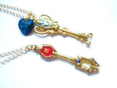 Aquarius and Scorpio Lovers Necklaces