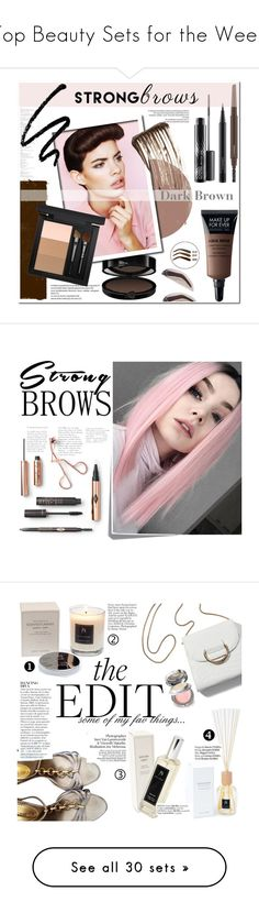 """""""Top Beauty Sets for the Week"""" by polyvore ❤ liked on Polyvore featuring beauty, MAC Cosmetics, Illamasqua, contestentry, brows, beautyset, perfectbrows, Post-It, Roberto Cavalli and Anja"""