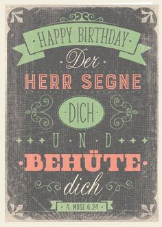 Doppelkarte - Happy Birthday - Segen