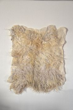 felted felt raw wool wall hanging wall art wall panel rug bed runner carpet sheep fleece bio vegetarian SOLD SOLD