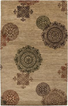 This rug has a hand-stamped quality making for a beautiful piece of art for your floor. From the Surroundings Collection by Surya (SUR-1003)