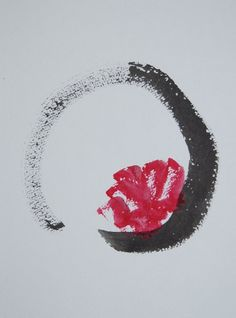 Enso and flower Tattoo Desing - This would look amazingas a watercolour desing!