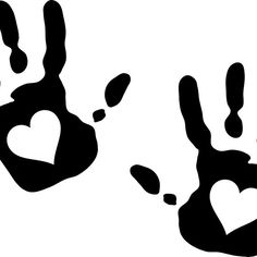 Hand print with Heart Cutout