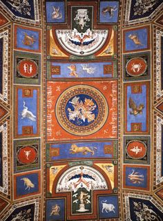 Sala dei Pontefici - Borgia apartments - Vatican Palace #Renaissance ceiling frescoes