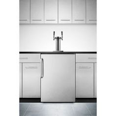 Enlarge Summit SBC490BISSTBTWIN Double Faucet Built-in Kegerator - Stainless Steel