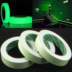 Reflective Material Reflective Glow Tape Self-adhesive Sticker Removable Luminous Tape Fluorescent Glowing Dark Striking Warning Tape Dropshipping To Have A Long Historical Standing