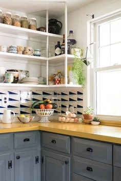 Gorgeous Kitchen, Awesome Tiles made by Molly Hatch | Apartment Therapy