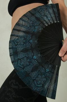 Summer Folding Fan and Hand Fan with Sacred Geometry. Beatiful Star Wars Print for Jedi Cosplay   Our 23 cm hand fan is an amazing hand crafted artwork. The hand fan has a beautiful sacred geometry tattoo artwork. It would fit to every amazing outfit but you can also use it to cool you down of Jedi Cosplay, Sacred Geometry Tattoo, Star Wars Prints, Fan 2, Self Design, Alternative Fashion, Hand Fan, Vintage Inspired, Cool Outfits