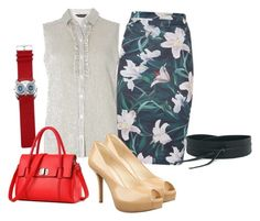 """""""OOTDW-96 by Katie"""" by katie-xdress-morgan ❤ liked on Polyvore featuring Dorothy Perkins, MANGO and Nine West"""