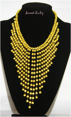 Statement #necklace #yellow https://www.facebook.com/pages/Sweet-Lady/208753725975495?ref=hl