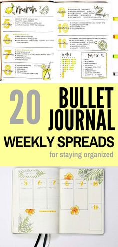 Stay organized with the help of these weekly bullet journal spreads!