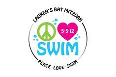 Swim Logo Swim Themed Bat Mitzvah Logo