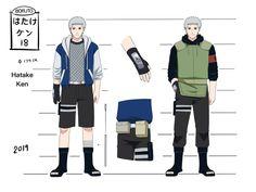 Hatake Ken 18 yrs, he is Kakashi's son. Hinata, Naruto Uzumaki Shippuden, Kakashi, Naruto Akkipuden, Naruto Character Info, Character Art, Hatake Clan, Ninja Name, Seventh Hokage