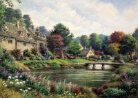 Puzzle Horská vesnice 2000 dílků Puzzle Art, Vineyard, Outdoor, Pagan, Outdoors, Vine Yard, Vineyard Vines, Outdoor Games, The Great Outdoors